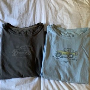 Two Life is Good Jeep T-shirts (Small)